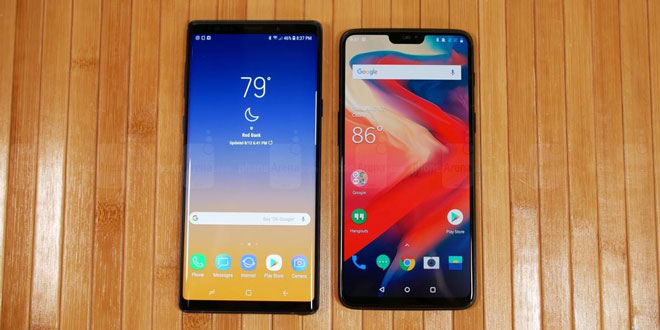 Galaxy Note 9 vs OnePlus 6