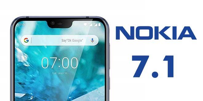 مشخصات گوشی جدید نوکیا 7.1 لو رفت