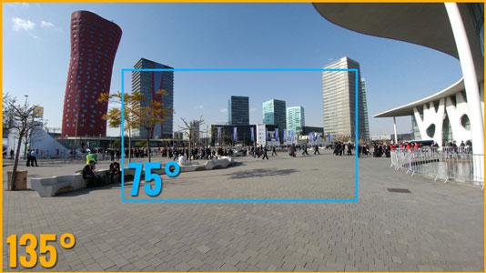 زاویه دید عریض در دوربین الجی V40
