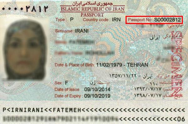 عبارت جلوی Passport NO. وارد کنید مطابق عکس