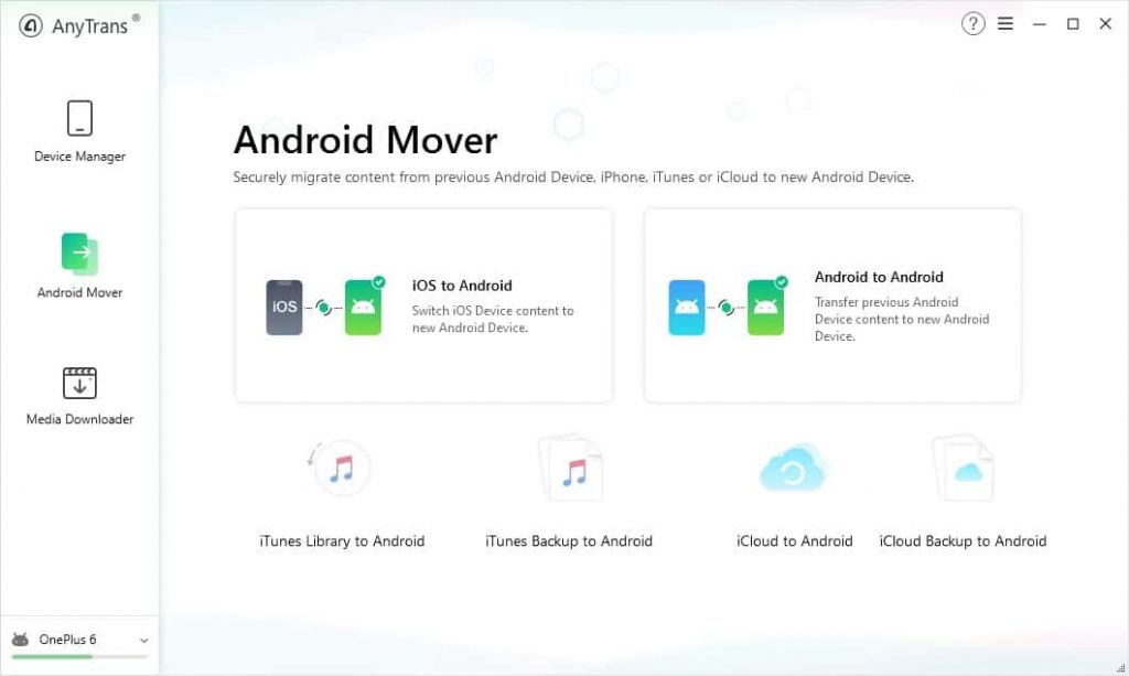 قسمت و بخش Android Mover