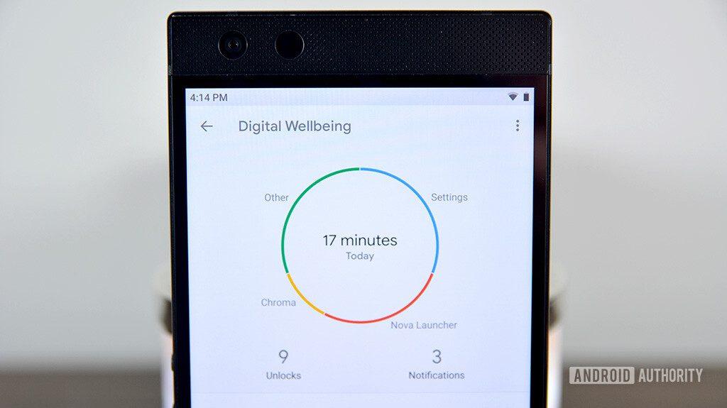 بخش Digital Wellbeing