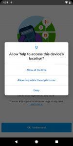 انتخاب سطح دسترسی برای هر اپلیکیشن