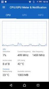 دیدن دمای CPU در استاتوس بار اندروید