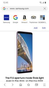 محیط مرورگر سامسونگ Samsung Internet Browser اندروید