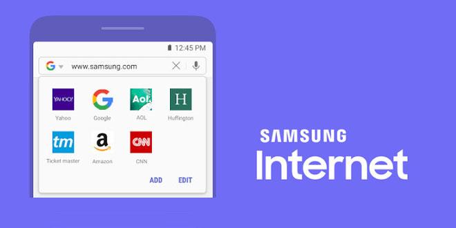 مرورگر سامسونگ Samsung Internet Browser اندروید