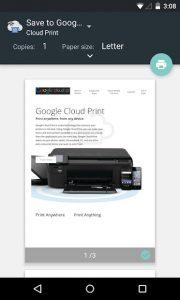 Cloud Print پرینت ابری اندروید