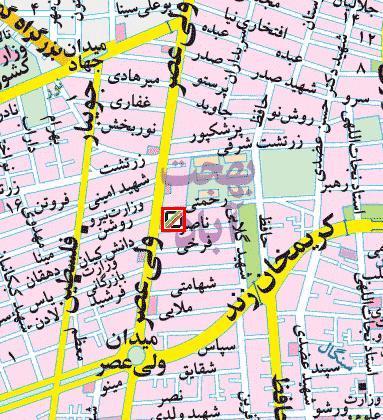 آدرس دفتر مرکزی میدان ولیعصر گمرک