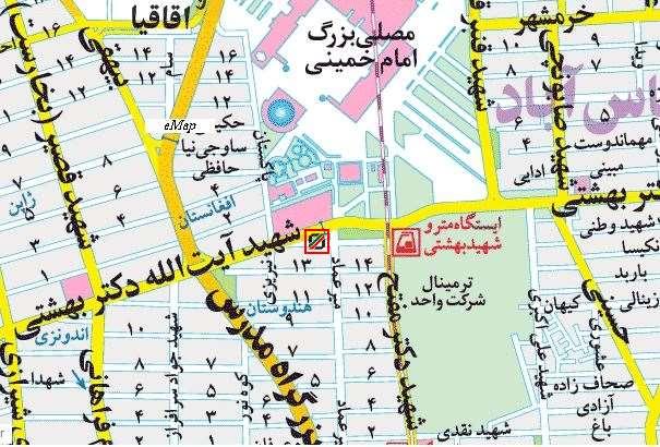آدرس ساختمان شماره 2 گمرک روبرو مصلی تهران