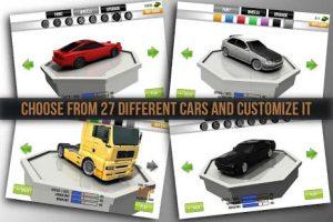 ماشین های قابل انتخاب در بازی مراحل بازی Traffic Racer