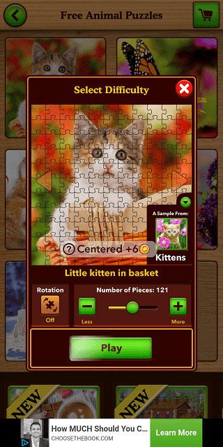 محیط بازی Jigsaw Puzzle