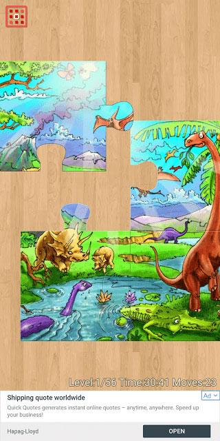 محیط بازی Kids Jigsaw Puzzles