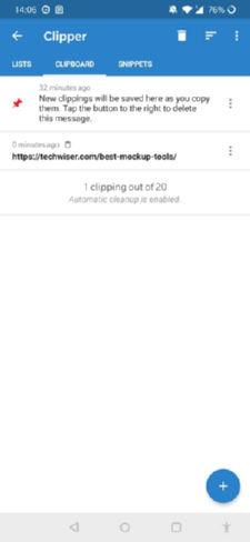 محیط نرم افزار مدیریت کلیپ بورد Clipper – Clipboard Manager