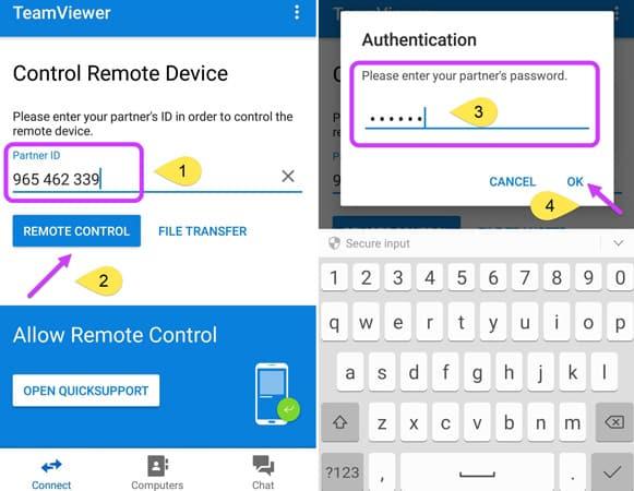 اتصال گوشی به کامپیوتر با TeamViewer