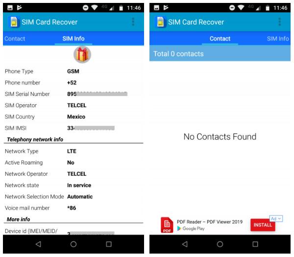 کار با نرم افزار SIM Card Recover and Manager