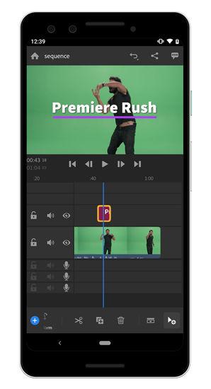 کار با Adobe Premiere Rush برای ساخت فیلم برای اندروید