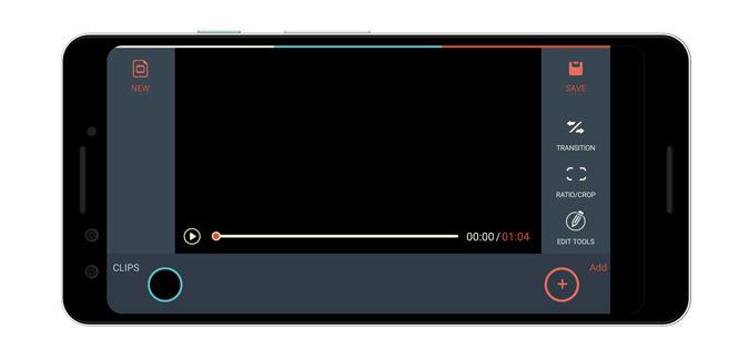 محیط برنامه FilmoraGo – Free Video Editor برای ساخت فیلم برای اندروید