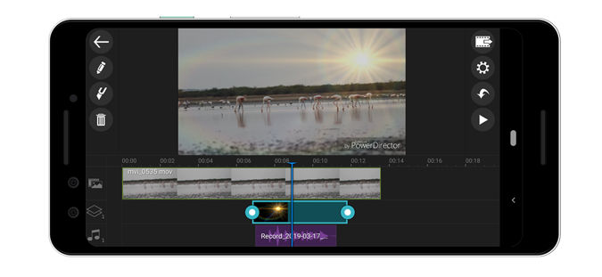 کار با PowerDirector Video Editor App برای ساخت فیلم برای اندروید
