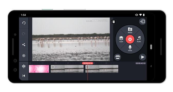 کار با KineMaster – Pro Video Editor برای ساخت فیلم برای اندروید