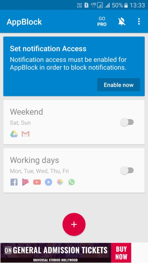 محیط برنامه App Block