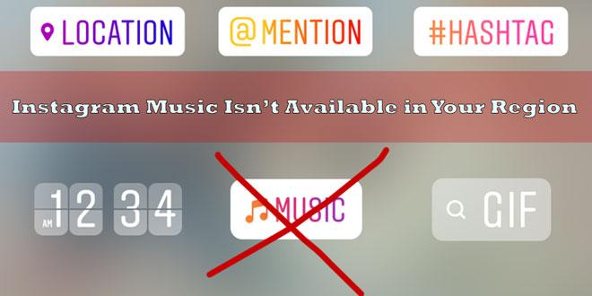 حل مشکل عدم نمایش Music در اینستاگرام