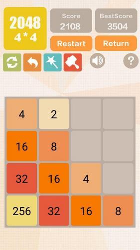 محیط بازی ریاضی اندروید 2048 Charm