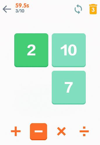 محیط بازی ریاضی اندروید Math 24 – Mental Math Cards