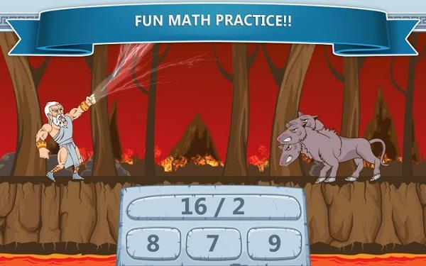 محیط بازی ریاضی اندروید Math Games – Zeus vs. Monsters