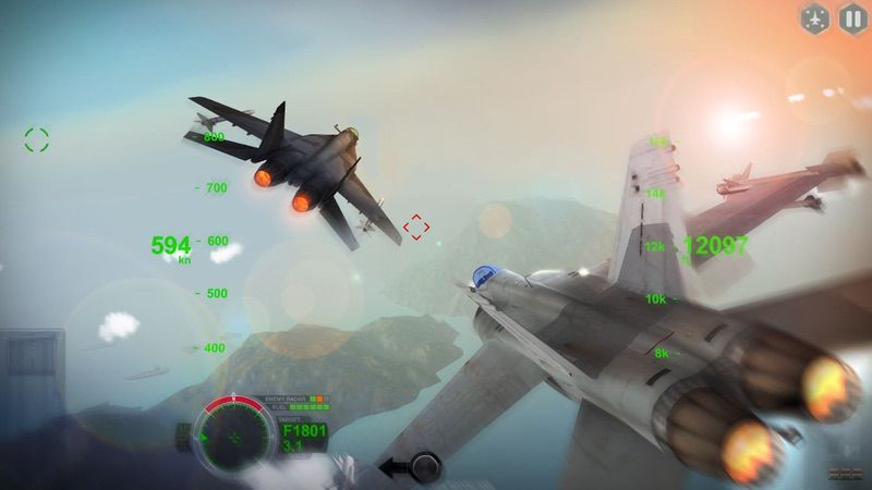محیط بازی AirFighters