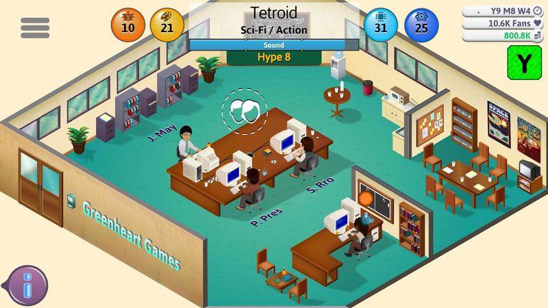 محیط بازی Game Dev Tycoon
