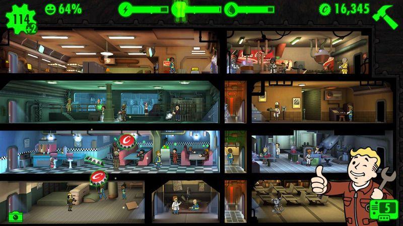 محیط بازی Fallout Shelter