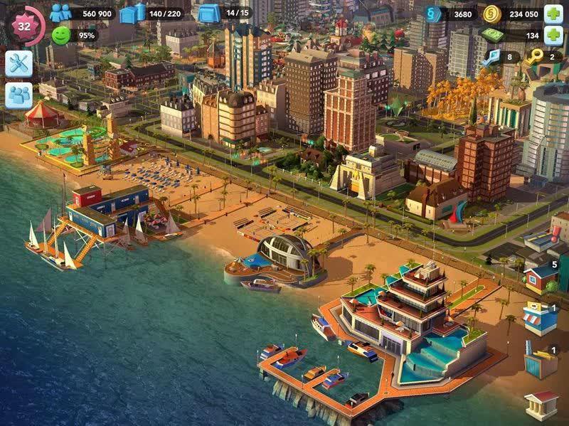 محیط بازی SimCity BuildIt