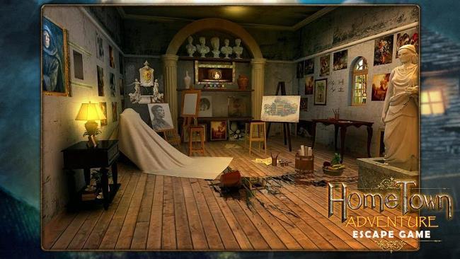 محیط بازی فرار از اتاق Home Town Adventure