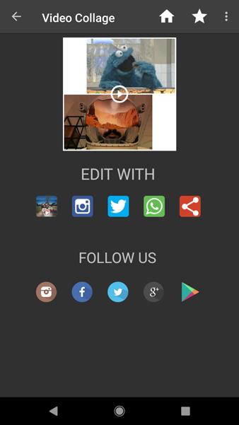 محیط برنامه ویدیو کلاژ Video Collage: Mix Video and Photo