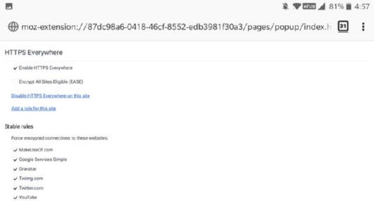 افزونه HTTPS Everywhere فایرفاکس