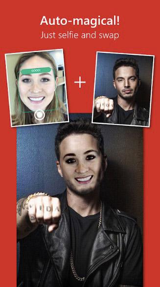 محیط برنامه تغییر چهره Face Swap by Microsoft