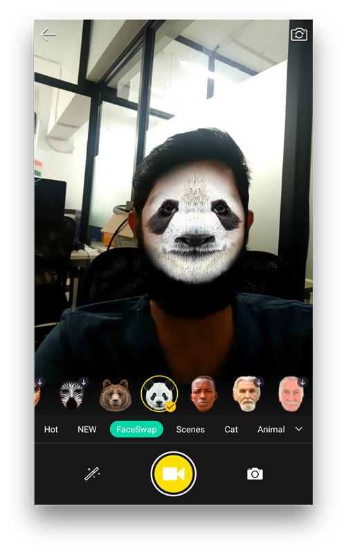 محیط برنامه تغییر چهره Face Swap