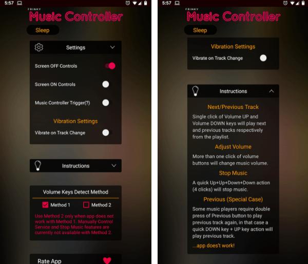 برنامه Frinky Music Controller