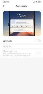 فعال کردن حالت تاریک حالت Dark Mode در MIUI 11