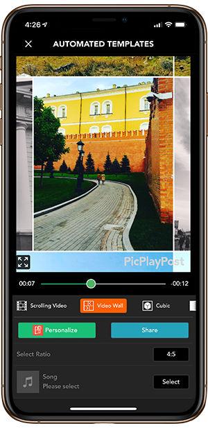 محیط برنامه قالب استوری PicPlayPost