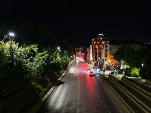 خیابان، حالب شب خاموش، گلکسی نوت 10 پلاس