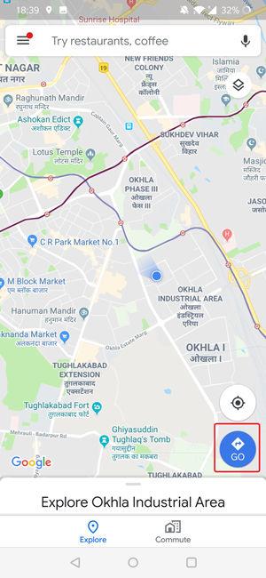 تعیین مسیر در گوگل مپ