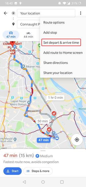 رفتن به قسمت پیش بینی ترافیک جاده