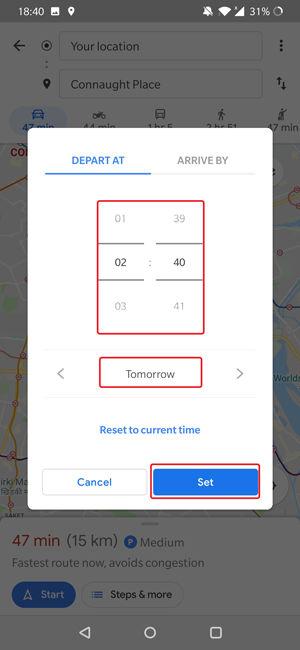 تعیین ساعت و تاریخ برای پیش بینی ترافیک