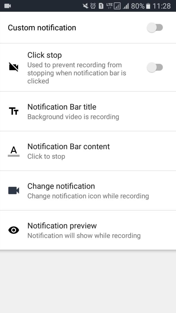تغییر تنظیمات ضبط ویدیو