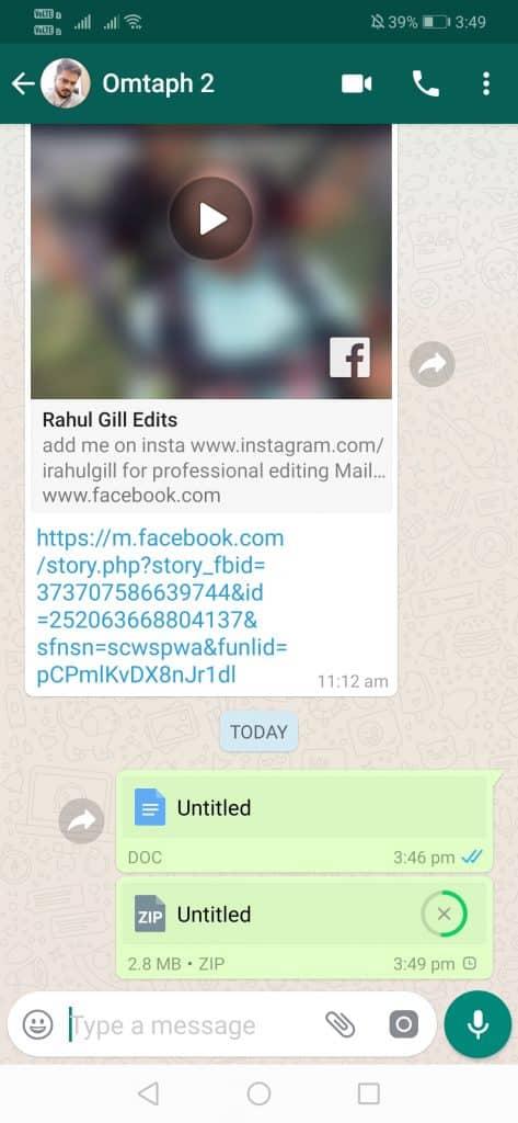 ارسال یکجای عکس در واتساپ به صورت فشرده سازی شده