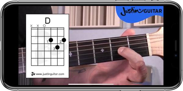 محیط برنامه Justin Guitar