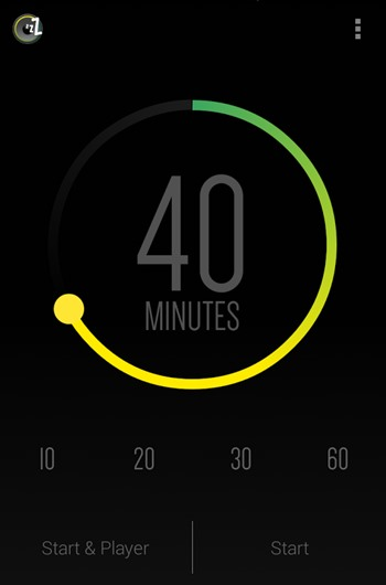 محیط برنامه Sleep Timer