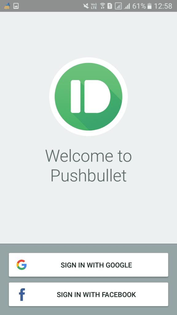 کار با نسخه اندروید Pushbullet
