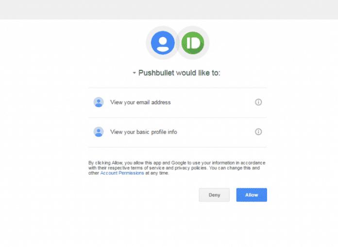 ورود به حساب کاربری Pushbullet در کروم